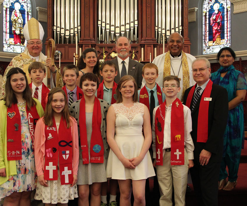 Christ Episcopal Church youth confirmed May 2014
