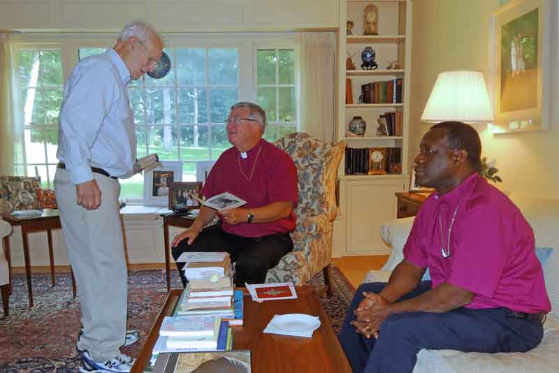 Christ Episcopal Church, Bishop Jay and Bishop David making home visits.
