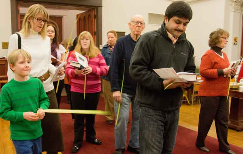 Palm Sunday Worship Procession at Christ Episcopal Church in La Crosse, WI