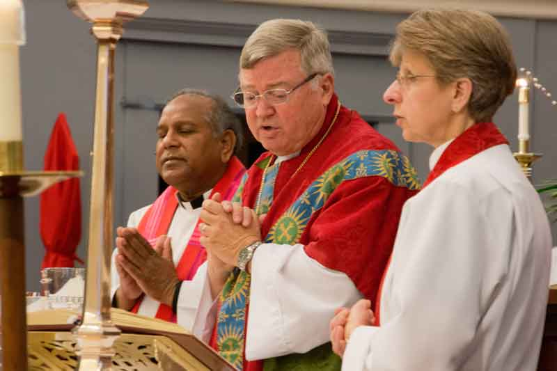 Bishop Lambert with Rev. Mary and Rev. Peter